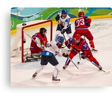 Vancouver 2010: Women's Hockey Action  Canvas Print