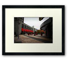 suburban plaza three Framed Print