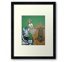 Safari Animal Friends Framed Print
