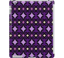 Retro curls - purple iPad Case/Skin