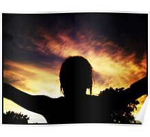 Girl Reaching For The Sky. II Poster