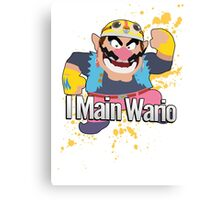 I Main Wario - Super Smash Bros. Canvas Print