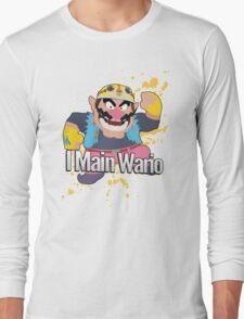 I Main Wario - Super Smash Bros. Long Sleeve T-Shirt
