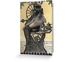 Steampunk Machinist - Sobriquette Pinion Greeting Card