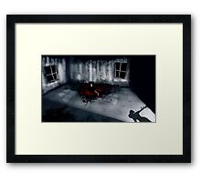 The whole time I'm in this house I'm feeling something is wrong. Framed Print