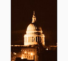 St Paul's Cathedral in Sepia & Dry Brush Effect Unisex T-Shirt