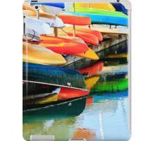 Row of Canoes and Kayaks in Oceanside Harbor iPad Case/Skin
