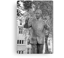 Nelson Mandela: Parliament Square London UK Metal Print