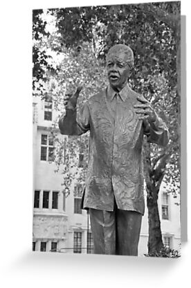 Nelson Mandela: Parliament Square London UK by DonDavisUK