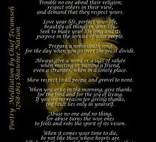 """Live Your Life""  Golden feather by Chief Tecumseh by Irisangel"