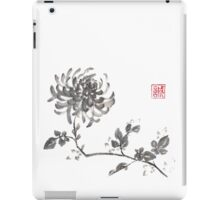 Golden dragon Chrysanthemum sumi-e painting iPad Case/Skin
