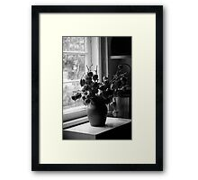 Standing at the Window Framed Print
