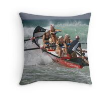 Port Campbell girls dig in Throw Pillow