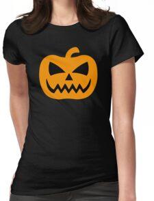 Creepy Jack-O-Lantern Womens Fitted T-Shirt