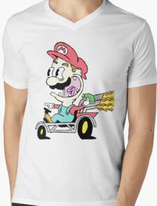 Mario Kart Mens V-Neck T-Shirt