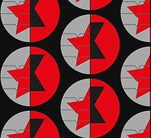 Bucky Barnes and Natasha Romanoff symbols - Bucky/Nat by Shellphiehead