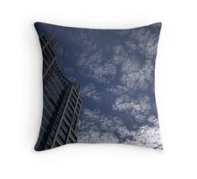 a tall, floury sky Throw Pillow