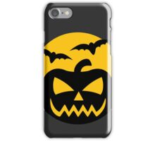 Creepy Jack-O-Lantern and bats iPhone Case/Skin