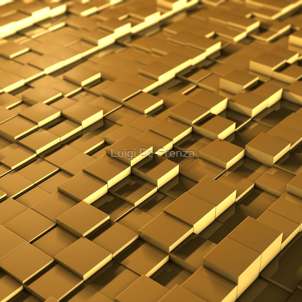 3D yellow cube's field by Luigi De Frenza
