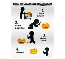 How to celebrate Halloween Jack-o Poster