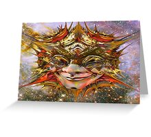 Star Clown Greeting Card