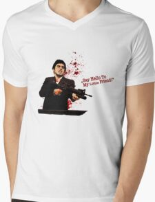 """""""Say Hello To My Little Friend"""" - Scarface Mens V-Neck T-Shirt"""