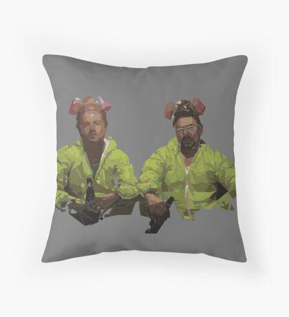 Geometric Heisenberg & Jesse Pinkman.. Breaking Bad Throw Pillow