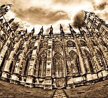 HDR Westminster Abbey Sepia by Dane Walker