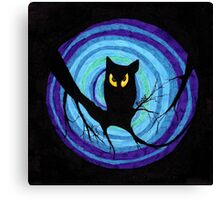 time for child stories: the EVIL OWL Canvas Print