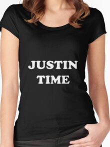 JUSTIN TIME Women's Fitted Scoop T-Shirt