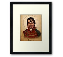 Deacon the Vampire - What We Do In The Shadows Framed Print
