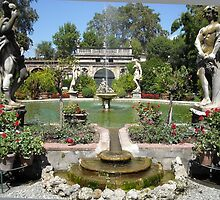 lovely pond and statuary in Lucca, Tuscany by BronReid