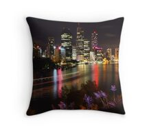 Brisbane Skyline Throw Pillow