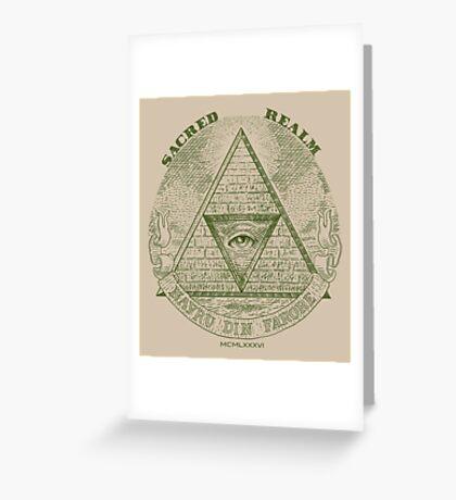 Sacred Realm Greeting Card
