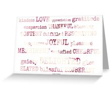 an expression of love & happiness~ Greeting Card