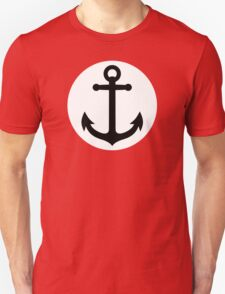 Black anchor inside white circle Unisex T-Shirt
