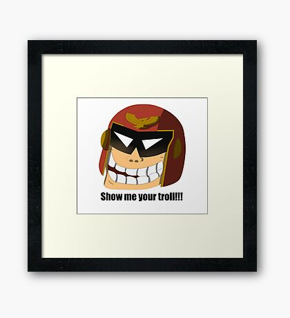 Captain Troll Framed Print