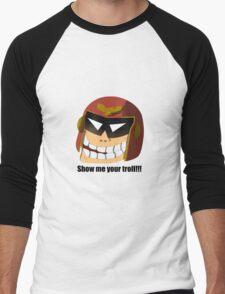 Captain Troll Men's Baseball ¾ T-Shirt