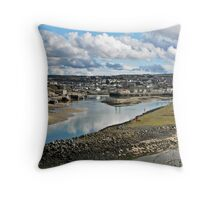 """ Cornish Harbours"" Throw Pillow"