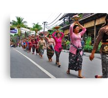 Balinese cremation ceremony Canvas Print