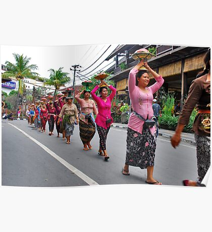 Balinese cremation ceremony Poster