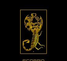 The Scorpio Zodiac Emblem by Vy Solomatenko