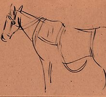Horse sketch #1 by Rebecca Rees