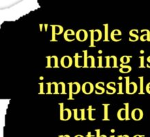 Winnie the Pooh - Nothing is impossible Sticker