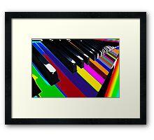 Colourful Music Framed Print
