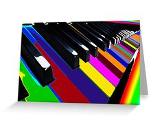 Colourful Music Greeting Card