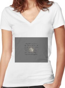 a soft dewy glow~ Women's Fitted V-Neck T-Shirt