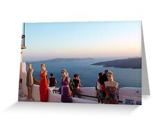 Greek beauty - Santorini Greeting Card