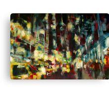 Yellow Cab, New york skyline Canvas Print