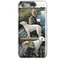 Beard Man Dogs Boat iPhone Case/Skin